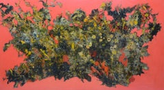 Daisy Garden - Sunset - Lacquer painting by Tang Xuan Doan, Vietnam