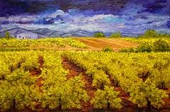 """Textured Vineyard Landscape """"Vinedo"""" by Maria Amparo"""