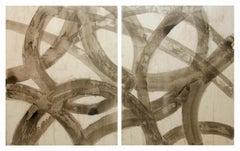 """Line Work"" Diptych by American Artist Scott Kerr"