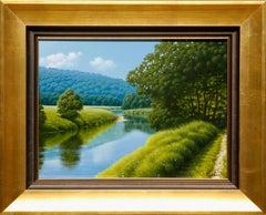 "Hyperrealistic ""Path by the Lake"" by Italian Artist Marco Di Nieri"