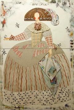 """Mariana Pale Rose"" Portrait of Queen Mariana of Austria by Maria Torroba"