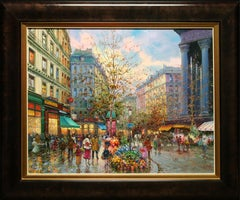 """Shopping Season"" Oil on Canvas by Emilio Payes"