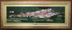 """""""Town"""" Oil on Board by Fernando Alcaraz"""
