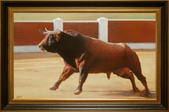 """Paloma Bull"" 30 x 46 inch Oil on Canvas by Manuel Higueras"