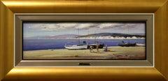 Seascape by Juan Gonzalez 7 x 23 inches Oil on Board
