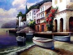 """""""Tamariu, Spain"""" by David Kim 36 x 48 inches Oil on Canvas"""