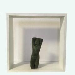 Lying Body by Sergio Monari 1985 Figurative Sculpture Patinated Bronze Cast