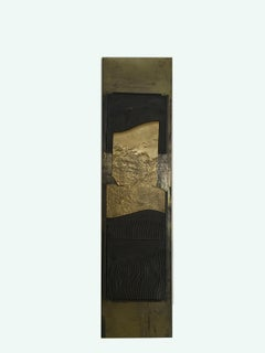 Architectures Composition By Italian G.Carlesso Cast Patinated Bronze Panel 1980