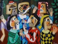 "Roland CHANCO (1914-2017), Painting ""Halloween"", 2000."