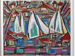 """Philippe VISSON (1942-2008), Painting """"Mouvances"""", 1997"""