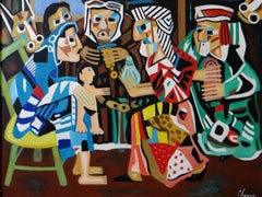 """Roland CHANCO (1914-2017), Painting """"The Wise Men"""", 2000."""