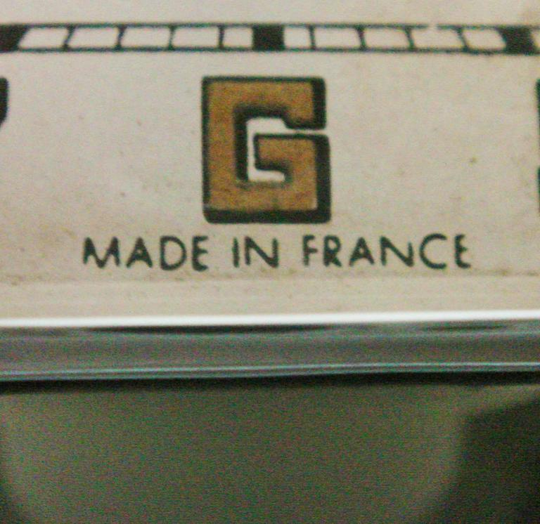 French Art Deco Chromed Bronze Alarm Clock & Integral Dice Paperweight Desk Set For Sale 4