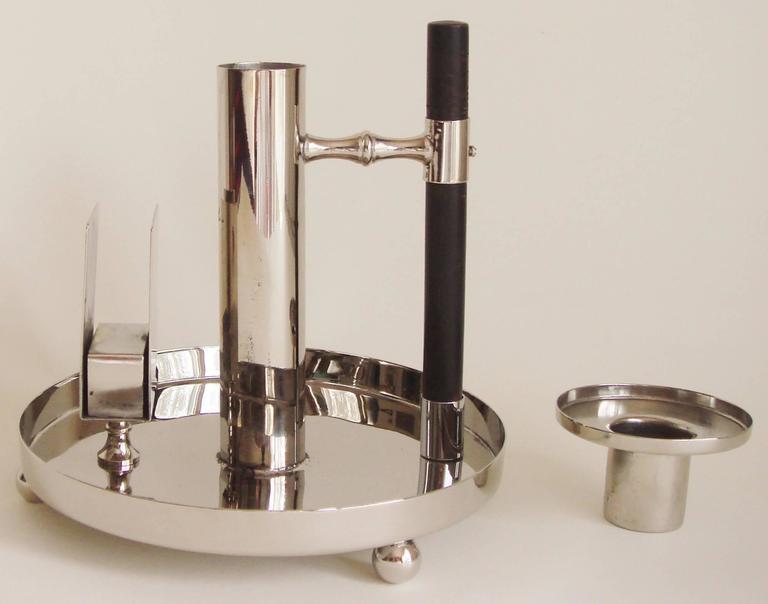 German Jugendstil Chamber / Candlestick by Dr. Christopher Dresser for WMF In Excellent Condition In Port Hope, ON