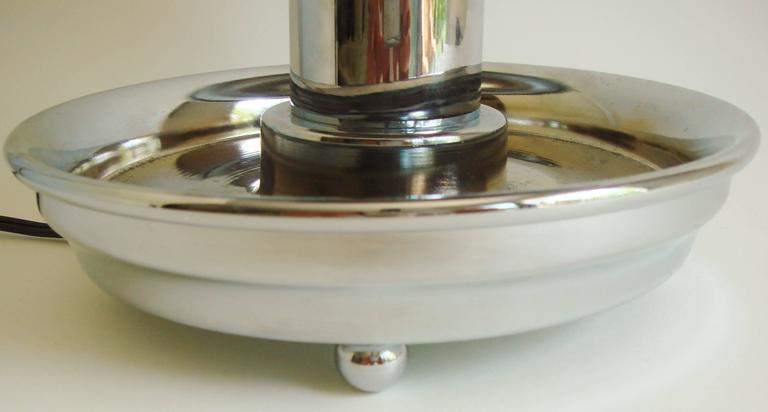 Mid-20th Century Rare American Art Deco Chrome Ocean Liner Bar/Railway Club Car Lamp/Ashtray For Sale