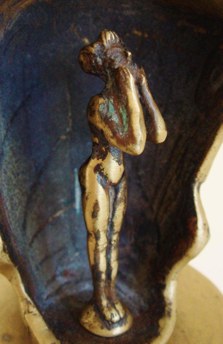 French Art Deco Bronze Secret Erotic Mephistopheles Car Mascot/Hood Ornament For Sale 1