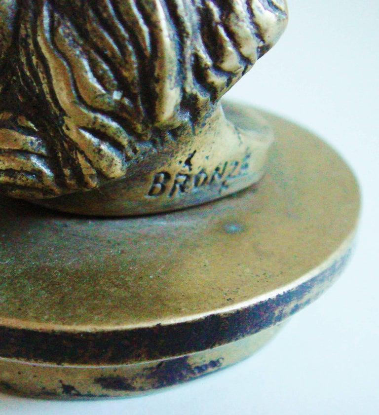 French Art Deco Bronze Secret Erotic Mephistopheles Car Mascot/Hood Ornament For Sale 2