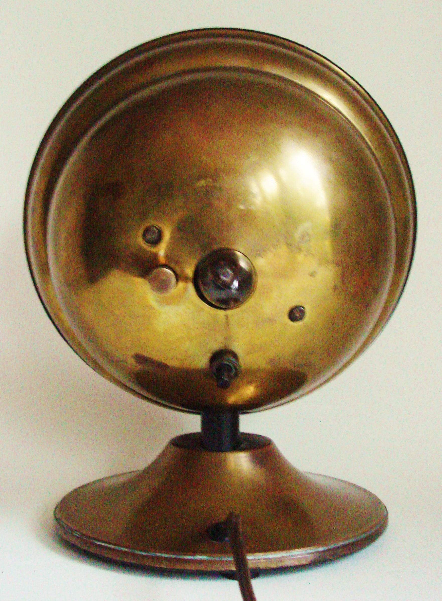 English Art Deco Brass R.A.F. Roundel or Target Illuminated Electric ...