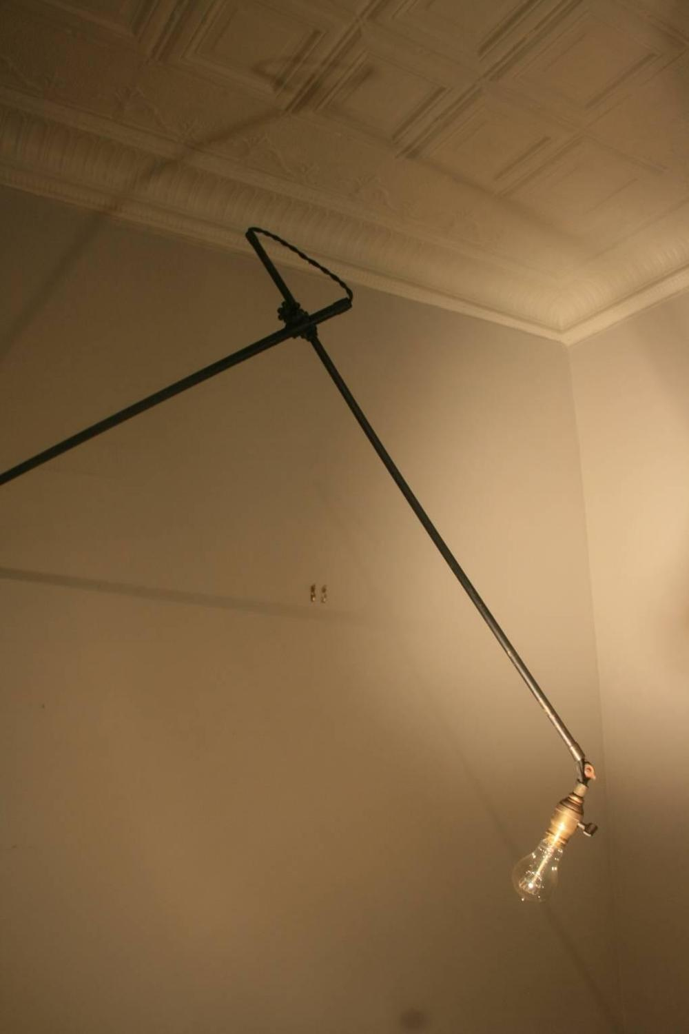 Huge and Early O.C. White Industrial Wall Lamp at 1stdibs