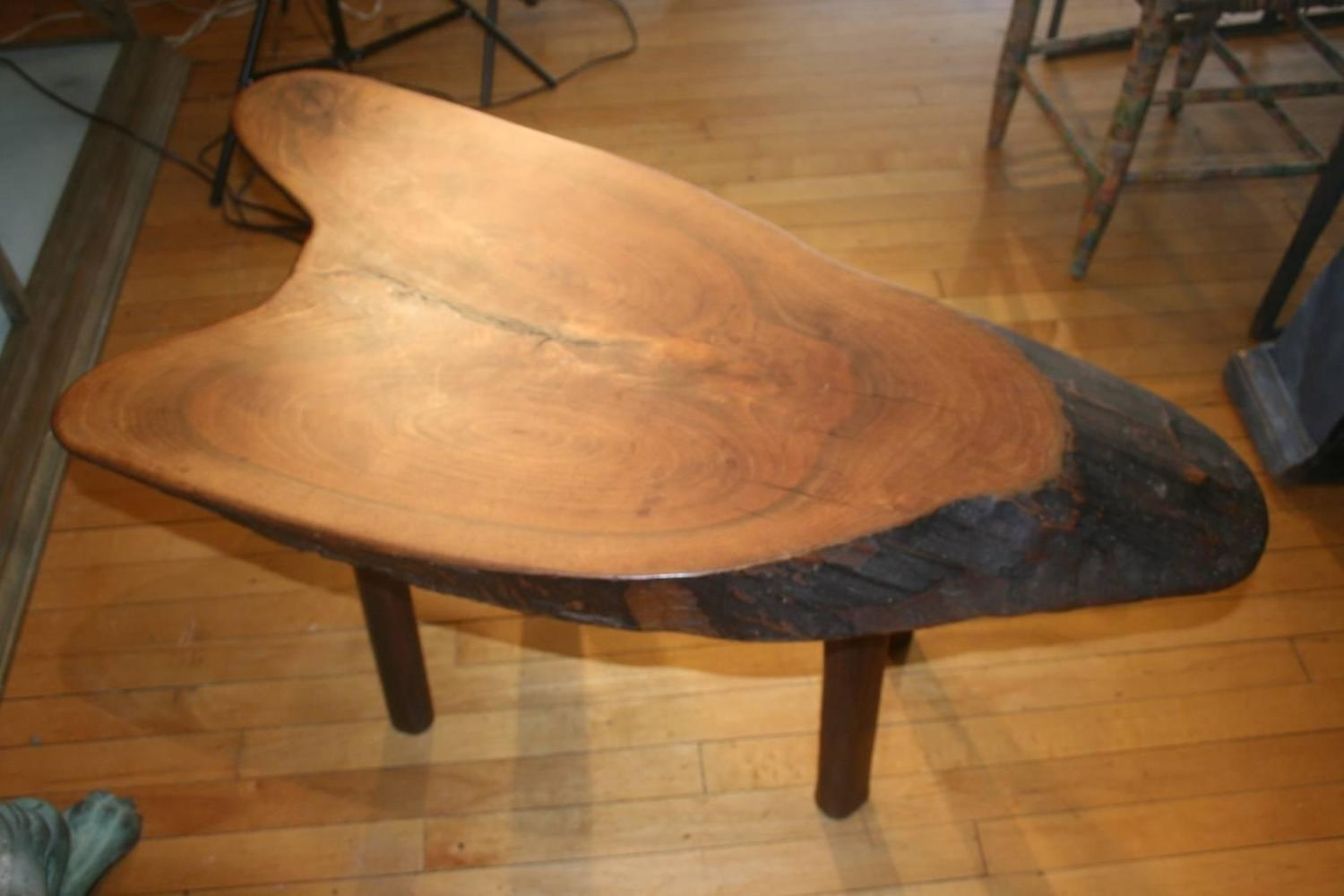 natural form tree trunk coffee table at 1stdibs