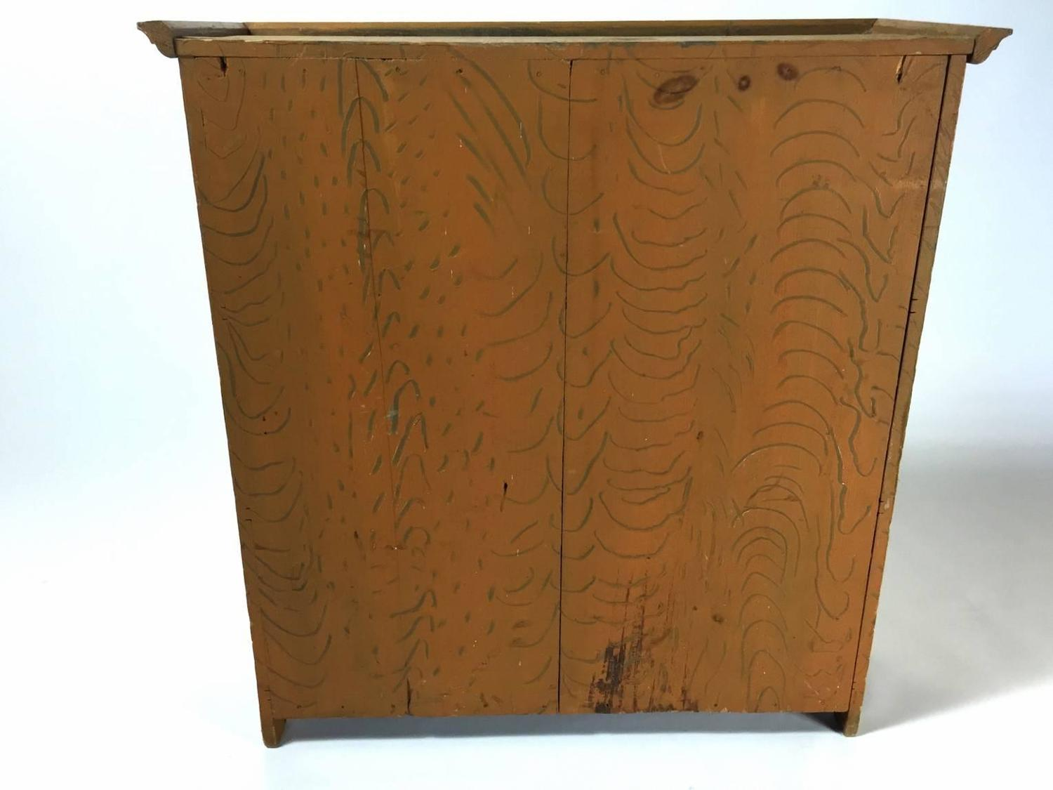 Small Faux Painted Wood Painted Cabinet For Sale At 1stdibs. Full resolution  pic, nominally Width 1500 Height 1125 pixels, pic with #794D21.