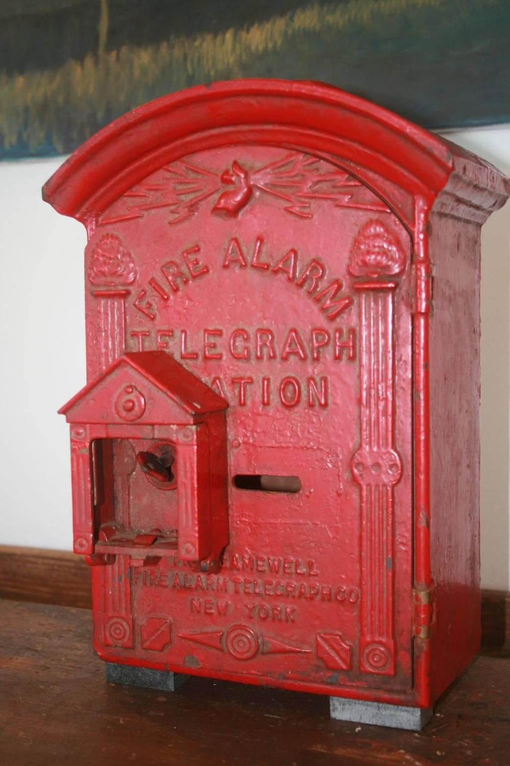 Fire Alarm Boxes Painted Red