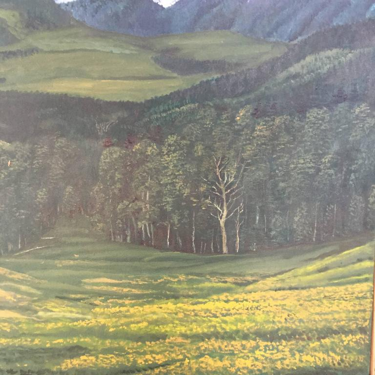 Large Rocky Mountains Landscape Painting Colorado In Excellent Condition For Sale In Hudson, NY
