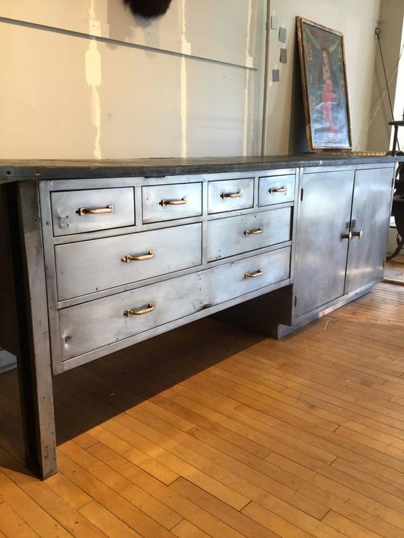 Kitchen island industrial steel cabinet for sale at 1stdibs - Industrial kitchen island for sale ...