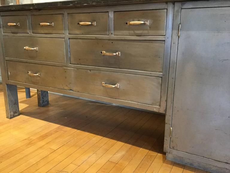 kitchen island industrial steel cabinet for sale at 1stdibs