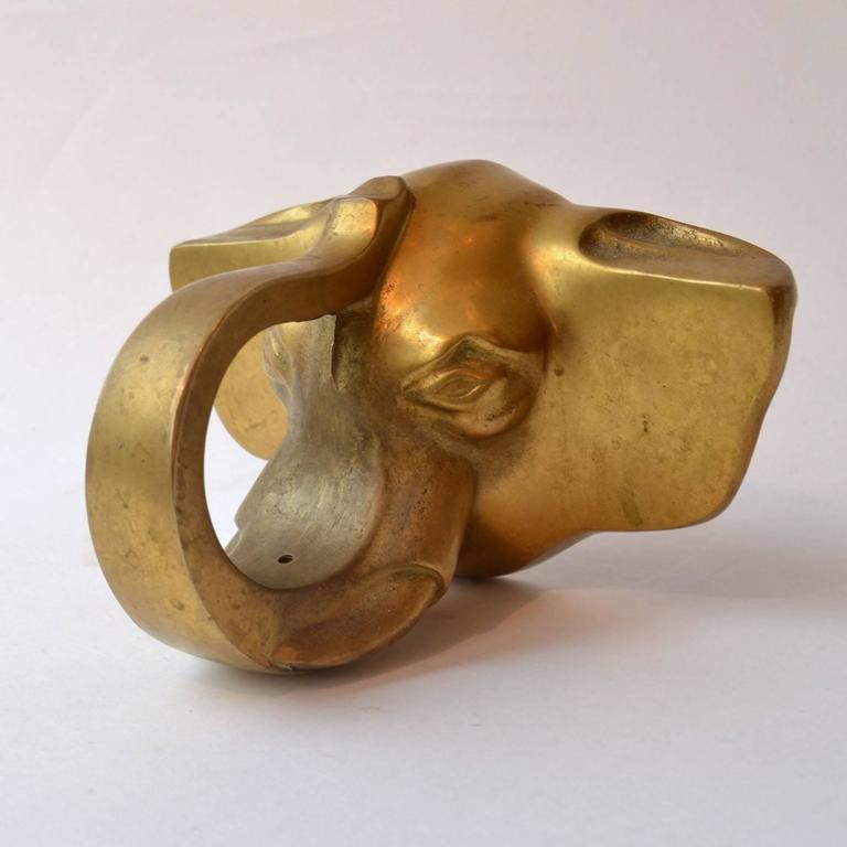 Art Deco Dutch Door Handle with Elephant Head in Bronze For Sale at ...