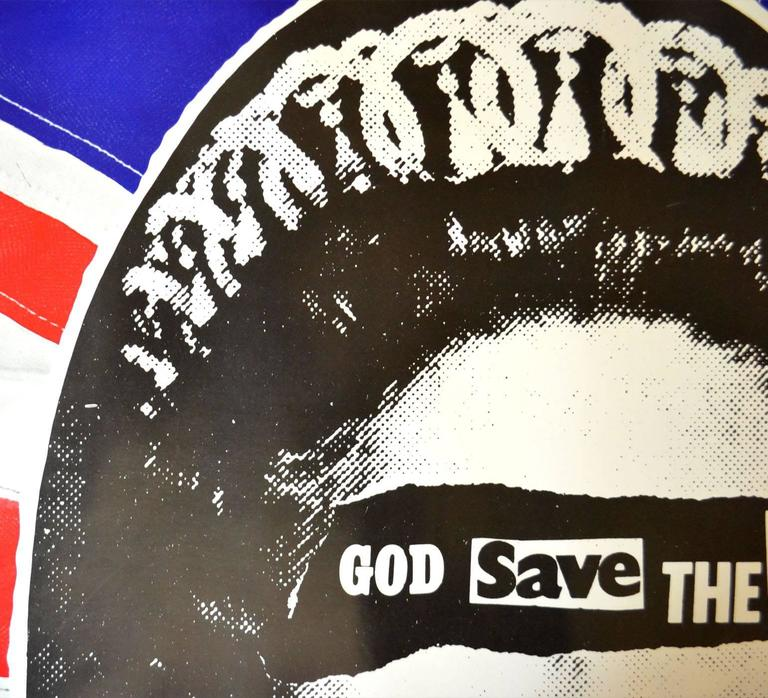 Sex Pistols Original God Save The Queen Promotional Poster