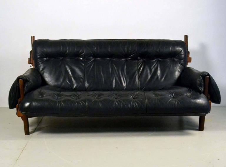 Early mole sofa by the brazilian sergio rodrigues in black for Mundo sofa outlet