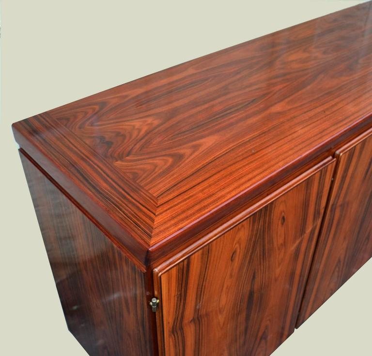 1960s danish palisander sideboard on metal hairpin legs by. Black Bedroom Furniture Sets. Home Design Ideas