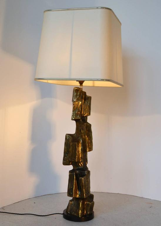 1970's Brutalist cubist Table Lamp by Maurizio Tempestini For Sale ...
