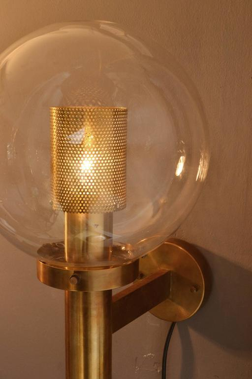 Pair of Brass and Glass Perforated Sconces by Hans-Agne Jakobsson for Markaryd 5