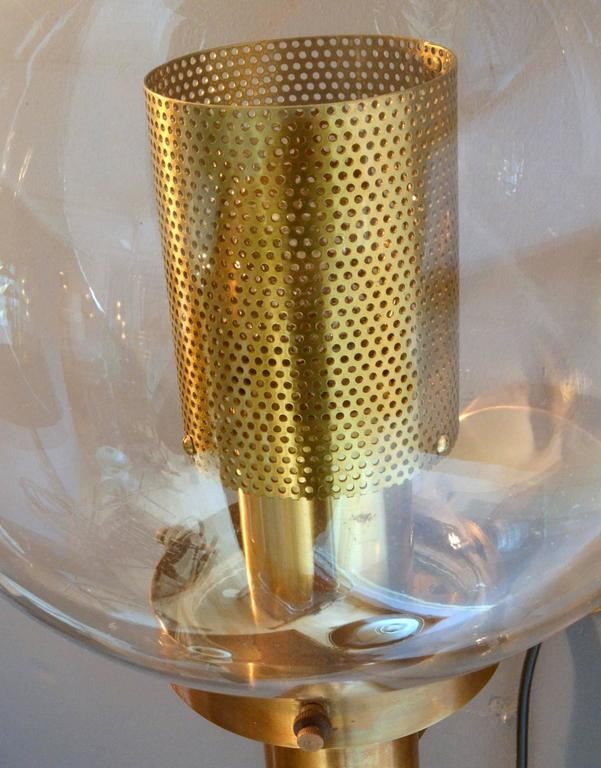 Pair of Brass and Glass Perforated Sconces by Hans-Agne Jakobsson for Markaryd 6