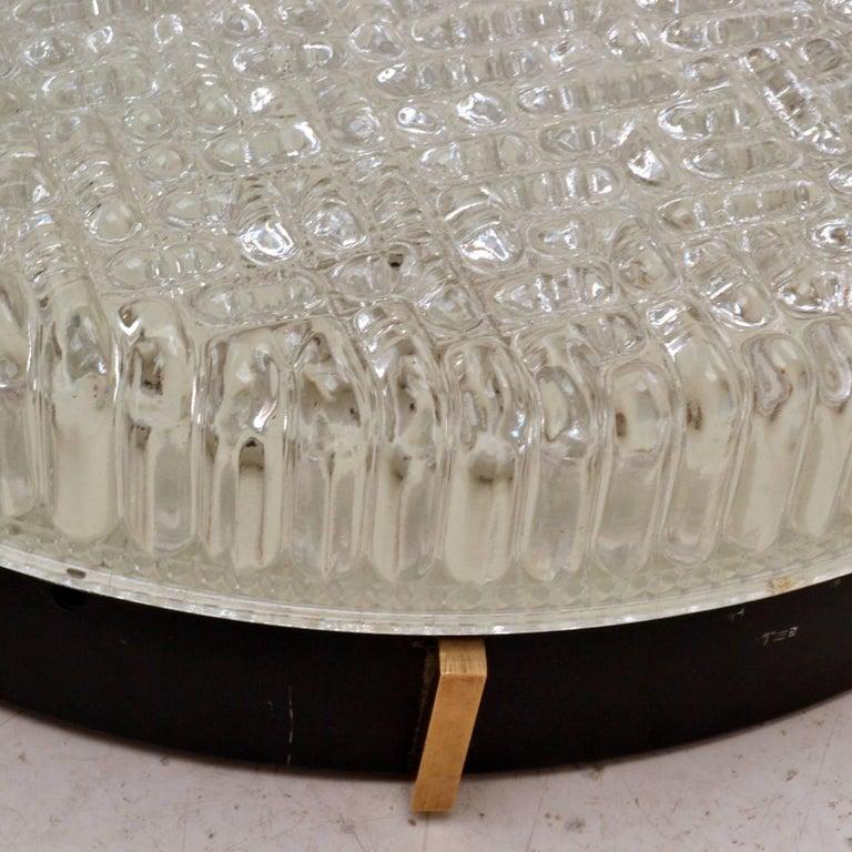 Cast Large Flush Mount Glass Pendant of wall lights by N Leuchten For Sale