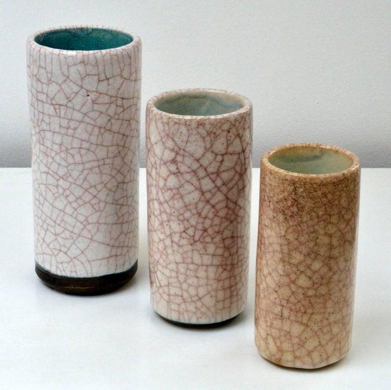 Set Of Three Cylinder Vases Vase And Cellar Image Avorcor