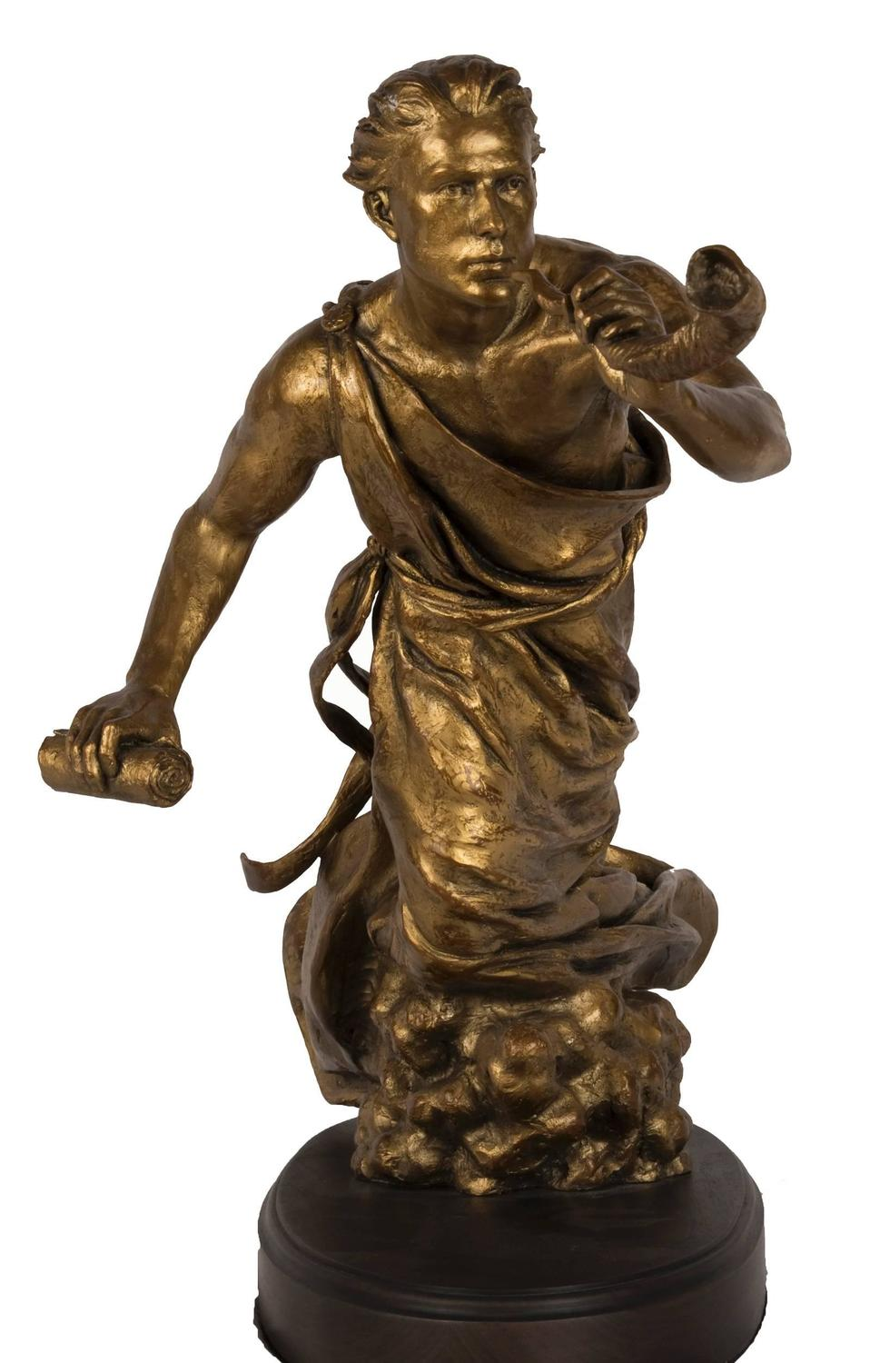 21st Century Bronze Sculpture Of Sheliach The Sent One At