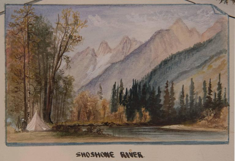American 19th Century Watercolour Scenes of Jackson Hole, Wyoming by George Beard For Sale