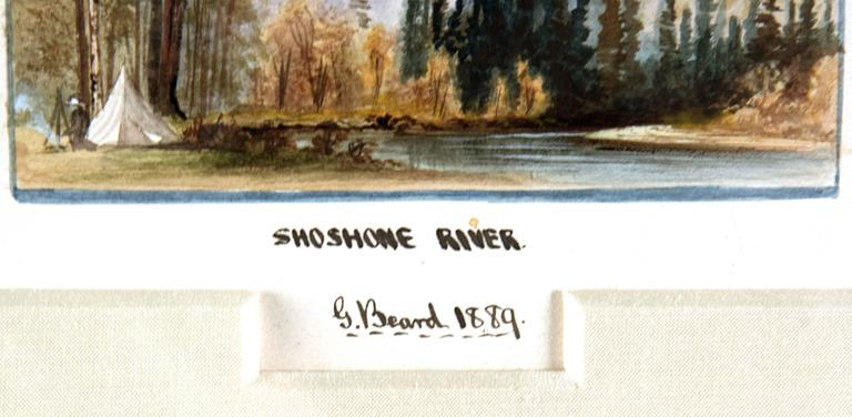 19th Century Watercolour Scenes of Jackson Hole, Wyoming by George Beard For Sale 1