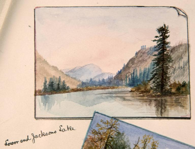 19th Century Watercolour Scenes of Jackson Hole, Wyoming by George Beard In Good Condition For Sale In Salt Lake City, UT