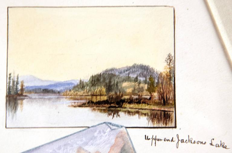 Paper 19th Century Watercolour Scenes of Jackson Hole, Wyoming by George Beard For Sale