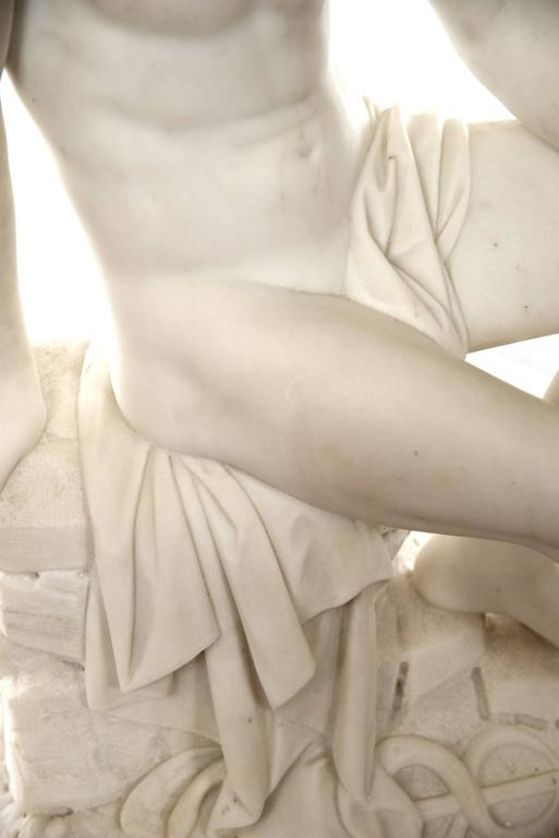 19th Century Marble Sculpture of Hermes In Good Condition For Sale In Salt Lake City, UT