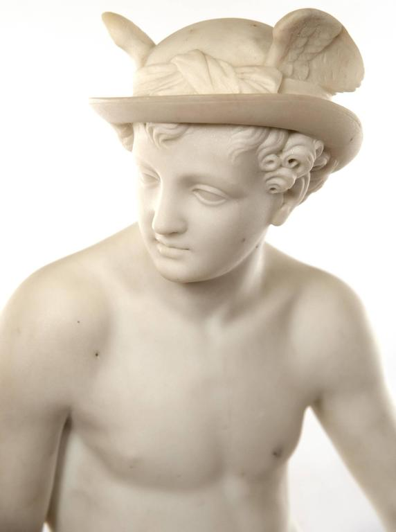 European 19th Century Marble Sculpture of Hermes For Sale