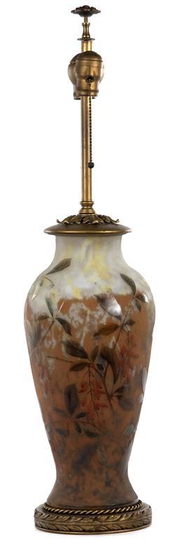 19th Century Polychrome Daum Cameo Glass Table Lamp 2