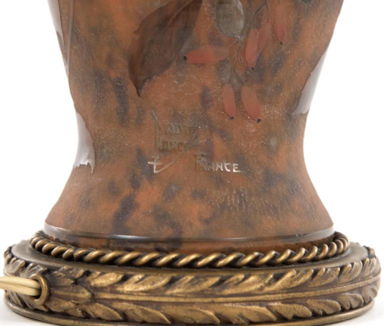 19th Century Polychrome Daum Cameo Glass Table Lamp 7