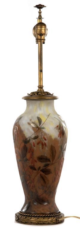 19th Century Polychrome Daum Cameo Glass Table Lamp 4