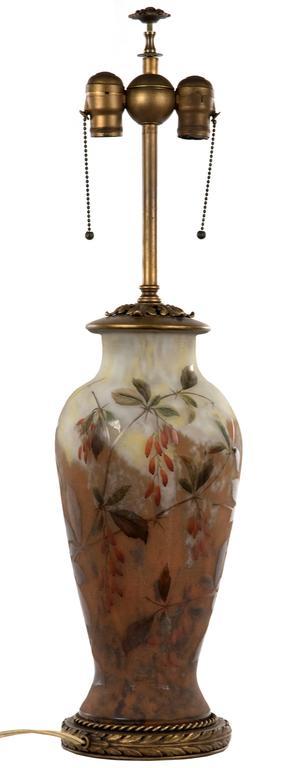 19th Century Polychrome Daum Cameo Glass Table Lamp 3
