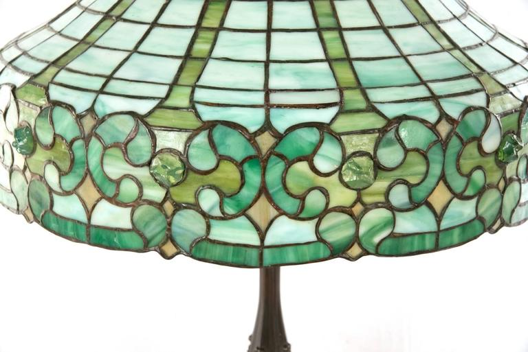 Whaley Stained Glass and Bronze Table Lamp 2