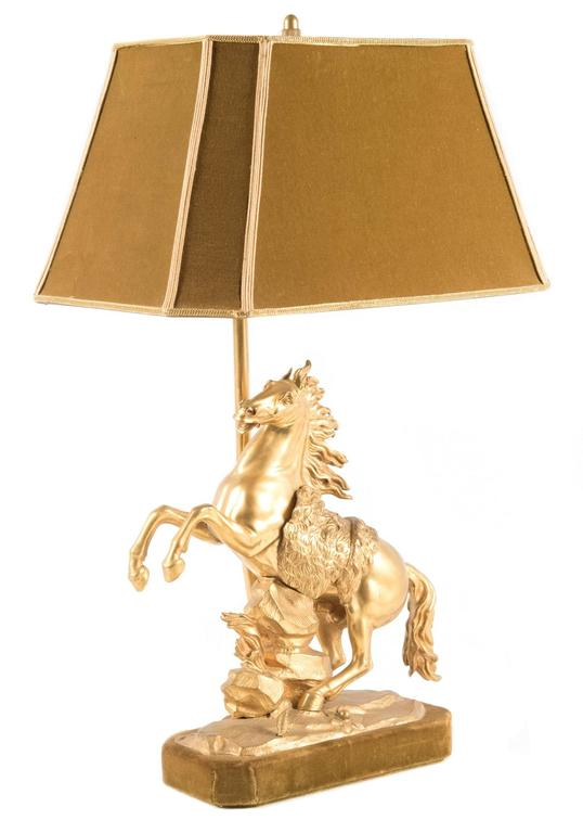Gilt Bronze Marly Horse Figural Table Lamp 4